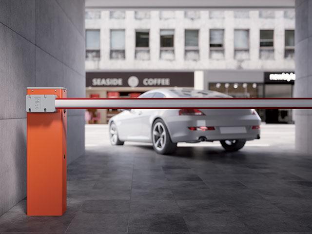 Wide S pode controlar o acesso de 3 m à 4 m. O sistema perfeito para pequenos estacionamentos residenciais.