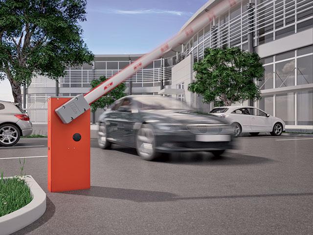Wide L pode controlar acessos de 5 a 7 metros. A escolha ideal para gerenciar a entrada para áreas de estacionamento de edifícios comerciais, supermercados, shopping centers, pontos de venda ou empresas.